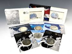 Great Britain SIlver Britannia £2 coins (x7) All on card or in boxes of issue - 2003, 2004, 2006,