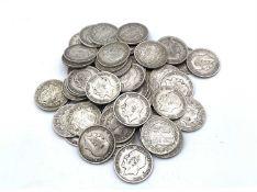 Silver Halfcrowns pre 1920 King George V (x59) £7.37 face of pre 1920 halfcrowns. Variable grades.