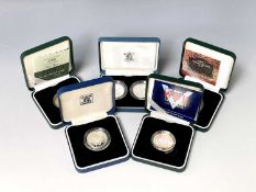 Great Britain Silver Proof £2 coins All with certificates in boxes of issue - 2005 Gunpowder Plot,