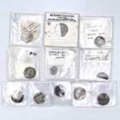 Hammered Silver Pennies, etc Mixed lot of 11 coins mostly Edward and Henry pennies but includes