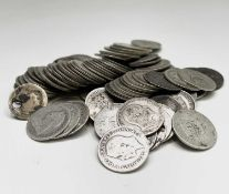 Great Britain Pre 1920 Silver Coinage. A quantity: Low grade. Face value £2.20. Condition: please