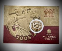 Great Britain Half Sovereign 2005 unc Elizabeth II featuring new portrayal of George & Dragon by