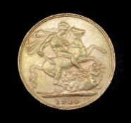 Great Britain Gold Sovereign 1910 slight EK Edward VII Condition: please request a condition