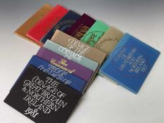 1970 and 1972-82 UK Royal Mint proof coin set all in boxes of issue. 12 in total. NB: 1973 A/F.