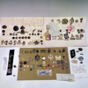 European, U.S.A, Malayan, etc Military Forces. A box containing three display cards of badges and