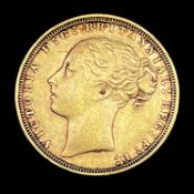 Great Britain Gold Sovereign 1871 George & Dragon Condition: please request a condition report if