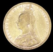 Great Britain Gold Sovereign 1889 Jubilee Head EF Note: Melbourne mint mark apparent Condition: