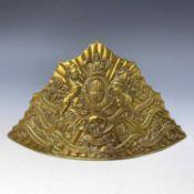 Victorian 17th Lancers Lancer-Cap (CZAPSKA) Plate. A fine Victorian brass cap plate. Condition: