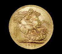 Great Britain Gold Sovereign 1915 George V Condition: please request a condition report if you