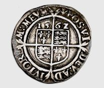 Elizabeth I 1562 Sixpence. Good Detail. Condition: please request a condition report if you