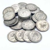Great Britain King George V Halfcrowns 1920-1917 (pre 1947 silver) (x36) Comprising: 1920 (x6), 1921