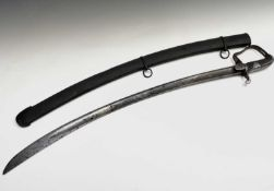 Cavalry Sword. A cavalry sword and scabbard in somewhat corroded condition. Condition: please