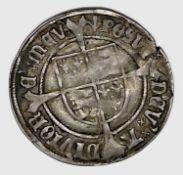 Henry VII 1505-09 Profile Groat, regular issue, mm. Pheon. Slight crease. Condition: please