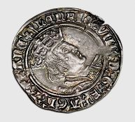 Henry VIII 1526-44 Second Coinage Groat, mm Arrow, nice grade with good detail but small edge