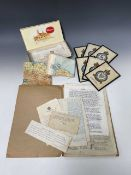 World War 2 Prison of War Paperwork, etc. Lot comprises the typed memoirs of Wing Commander G.