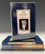 TED HUGHES. 'Flowers and Insects.' First edition, unclipped dj, Faber & Faber, 1986; 'Wolfwatching,'