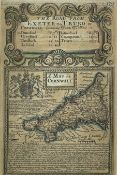 OWEN & BOWEN. 'The Road from Exeter to Truro showing Map of Cornwall.' Partially hand coloured,