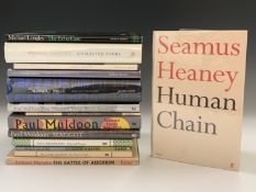 SEAMUS HEANEY. 'Human Chain.' First edition, unclipped dj, Faber & Faber, 2010; RICHARD MURPHY. 'The