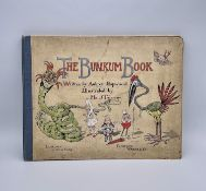 THE BUNKUM BOOK, A TOPSY TURVEY TALE. Written by Audrey Hopwood. Illustrated by Maud Trelawny.Good