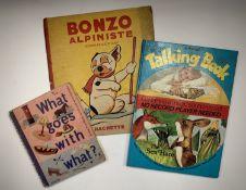 G. E. STUDDY. 'Bonzo Alpiniste.' Pictorial limpback boards, Hachette, 1937; 'The Sea Hare,' a