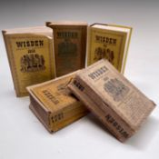 Five Wisden books. 1938, 1951, 1958, 1974 and 1989. (5) Condition: please request a condition report