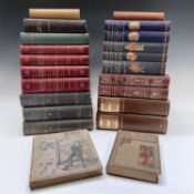 BINDINGS. 'English Lierature: An Illustrated Record,' four volumes, half red leather with gilt