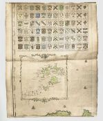 THOMAS MARTYN. 'A New and Accurate Map of the County of Cornwall.....' Engraved and hand coloured