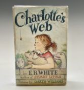 E. B. WHITE. 'Charlotte's Webb.' First edition, clipped dj but with price still apparent, foxing