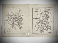 BERNARD SCALE. 'Galway' and 'Kerry,' two engraved maps with accompanying text, 1776. (2)