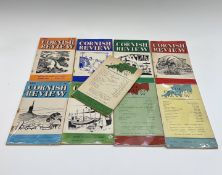 'The Cornish Review,' first nine issues, edited by Denys Val Baker, illustrated boards, cellophane