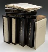 GREAT DOMEDAY BOOK. The 'Penny Edition,' facsimilie in six volumes, wooden boards with quarter