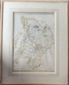 JOHN CARY. Two part hand col and engraved map of Huntingdonshire and Berkshire, pub John Stockdale