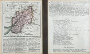 THOMAS KITCHIN and THOMAS JEFFERY. 'The Small English Atlas.' Hand coloured copper engraved map of