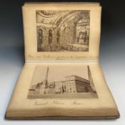 EARLY PHOTOGRAPHS. An Album of 66 Sepia photographs of Rome and other Italian views. Original