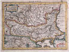 JANSSON and MERCATOR. 'Walachia, Servia, Bulgaria, et Romania,' hand coloured, copper engraved,