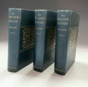 J. G. FRAZER 'The Golden Bough.' First three volumes, second edition, original blue cloth with