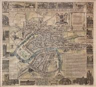 'Jacobus Millerd's Plan of Bristol, 1673.' Facsimilie, limited edition, framed and glazed, by Messrs