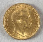 Goldmünze, 20 Mark, dt. Kaiserreich (Preußen), 1910 A, Wilhelm II.