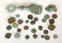 Konvolut antiker Kupfer- und Bronzemünzen, 26 Stück