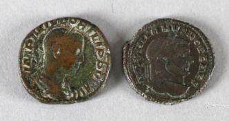 Zwei röm. Münzen