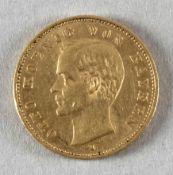 Goldmünze, 20 Mark, dt. Kaiserreich (Bayern), 1905 D, Otto