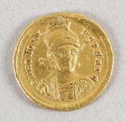Antike römische Goldmünze (AV-Solidus), Honorius