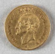 Goldmünze, 20 Mark, dt. Kaiserreich (Sachsen), 1873 E, Johann