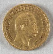 Goldmünze, 20 Mark, dt. Kaiserreich (Hessen), 1873 H, Ludwig III.