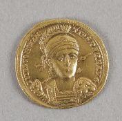 Antike römische Goldmünze (Solidus), Constantius II.