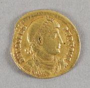 Antike römische Goldmünze (Solidus), Valens