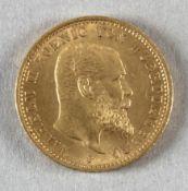 Goldmünze, 20 Mark, dt. Kaiserreich (Württemberg), 1905 F, Wilhelm II.