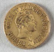 Goldmünze, Doppelter Friedrich d'Or, Preußen, 1848 A, Friedrich Wilhelm IV.