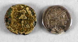 2 antike römische Münzen