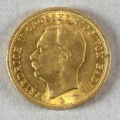 Goldmünze, 20 Mark, dt. Kaiserreich (Baden), 1913 G, Friedrich II.